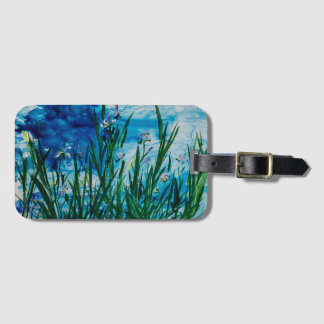 Iris on the Water Luggage Tag with Business Card