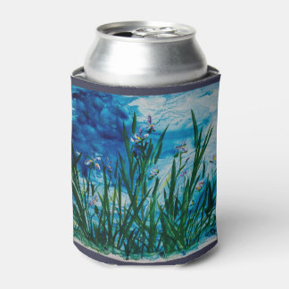 Iris on Water Edge Can Cooler