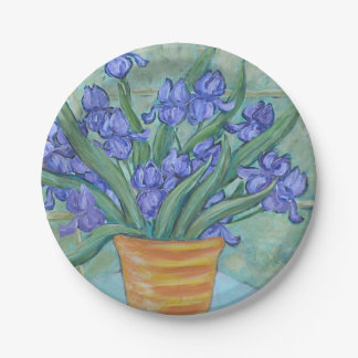 Iris Paper Plate By Brendan Loughlin