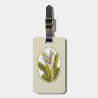 Iris Planifolia In Oval Mount Luggage Tag