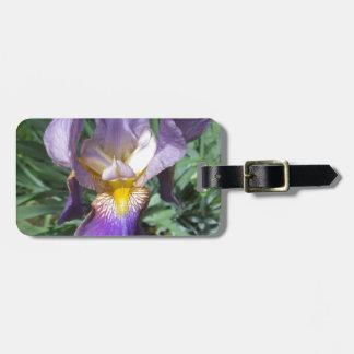 Iris Purple Bearded Luggage Tag