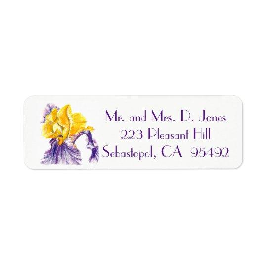 Iris Return Address Labels