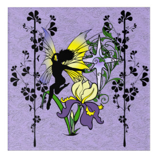 Iris Shadow Fairy Acrylic Wall Art