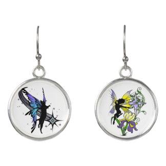 Iris Shadow Fairy and Cosmic Kitty Earrings