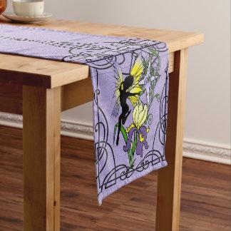Iris Shadow Fairy Short Table Runner