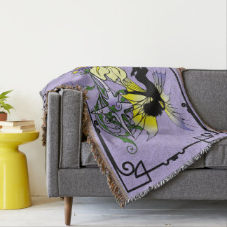 Iris Shadow Fairy Throw Blanket