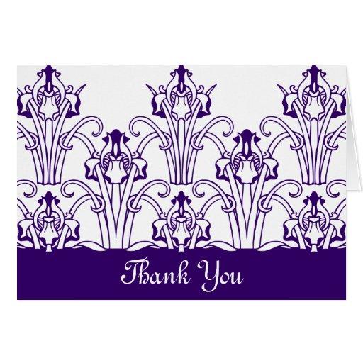 Iris Thank you Greeting Cards
