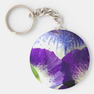 Iris Unfolding Basic Round Button Key Ring