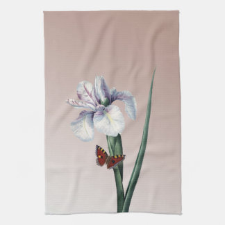 Iris with Butterfly Tea Towel