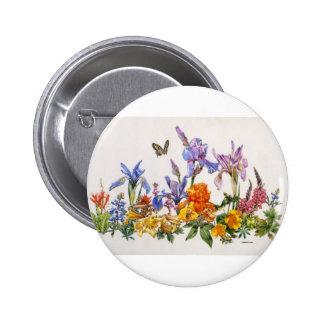 Iris Wrap-Around Pinback Button