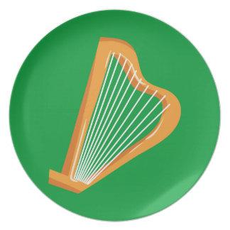 Irische Harfe Irish harp Plate