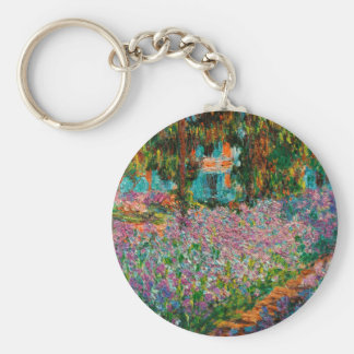 Irises At Giverny Claude Monet Key Ring