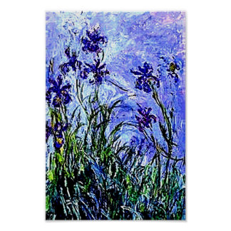Irises by Claude Monet Poster