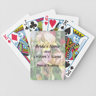 Irises By Picket Fence Bicycle Playing Cards
