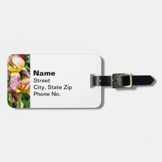 Irises By Picket Fence Luggage Tag
