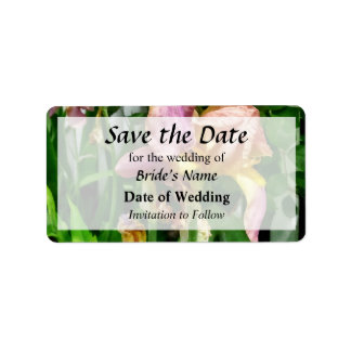 Irises By Picket Fence Save the Date Label