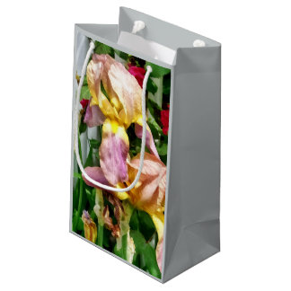 Irises By Picket Fence Small Gift Bag