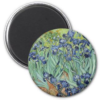 Irises by Van Gogh 6 Cm Round Magnet