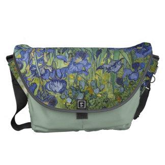 Irises by Van Gogh Bag Messenger Bags