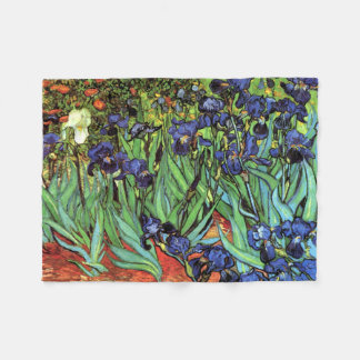 Irises by Van Gogh Fine Art Fleece Blanket