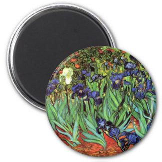 Irises by Van Gogh Fine Art Magnets