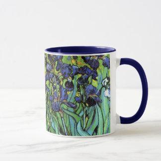 Irises by Van Gogh Fine Art Mug