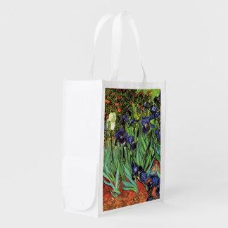 Irises by Van Gogh Fine Art Reusable Bag Grocery Bag