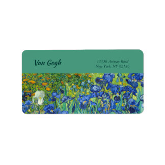 Irises by Van Gogh Label