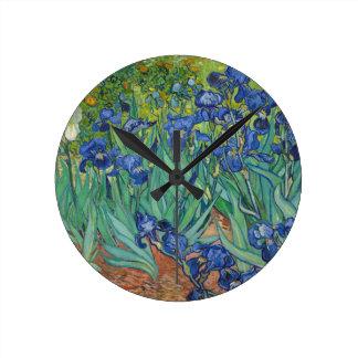 Irises by Vincent Van Gogh 1889 Wallclocks