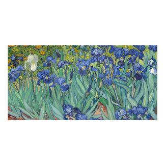 Irises by Vincent Van Gogh Custom Photo Card