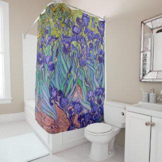 Irises by Vincent van Gogh Fine Art Shower Curtain