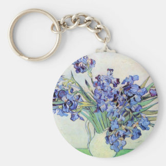 Irises by Vincent van Gogh Key Ring
