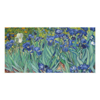 Irises by Vincent Van Gogh Customized Photo Card