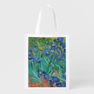 Irises by Vincent van Gogh Reusable Grocery Bag