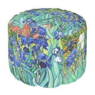 Irises By Vincent Van Gogh Round Pouffe
