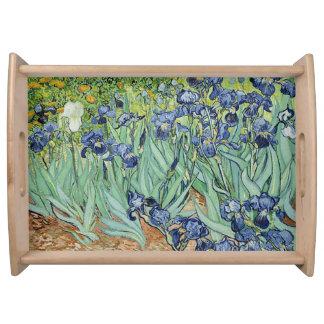 Irises by Vincent van Gogh Serving Platter