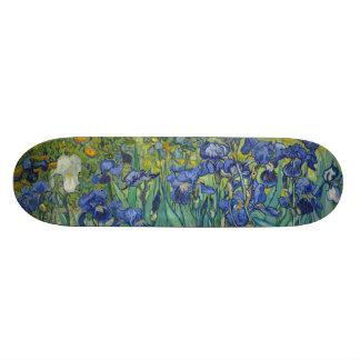 Irises by Vincent Van Gogh Skateboard Deck