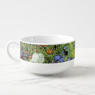 Irises by Vincent van Gogh Soup Mug