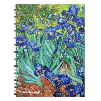 Irises By Vincent Van Gogh Spiral Note Book