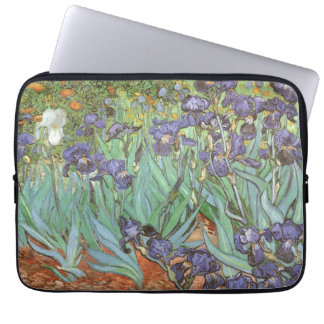 Irises by Vincent van Gogh, Vintage Flowers Art Laptop Sleeve