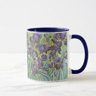 Irises by Vincent van Gogh, Vintage Flowers Art Mug