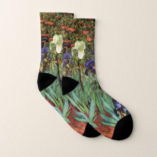 Irises by Vincent van Gogh, Vintage Garden Art Socks