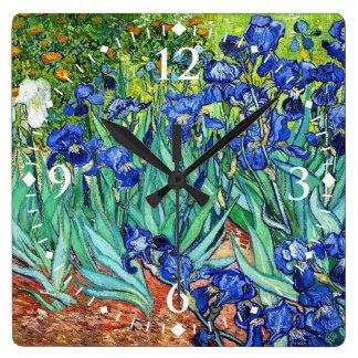 Irises By Vincent Van Gogh Wallclock