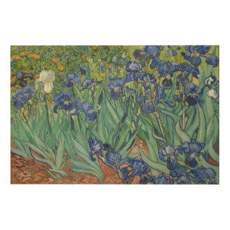 Irises by Vincent van Gogh Wood Print