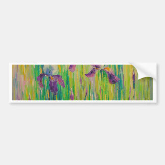Irises in field bumper sticker