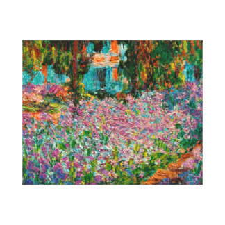 Irises In Monets Garden At Giverny by Claude Mone Canvas Print