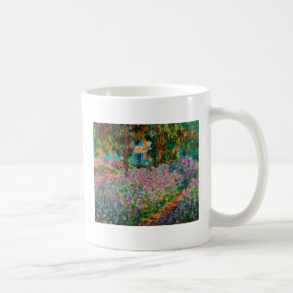 Irises In Monets Garden At Giverny by Claude Mone Coffee Mug