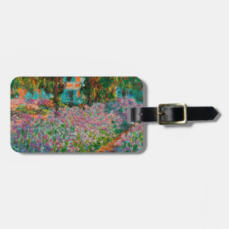 Irises In Monets Garden At Giverny by Claude Mone Luggage Tag