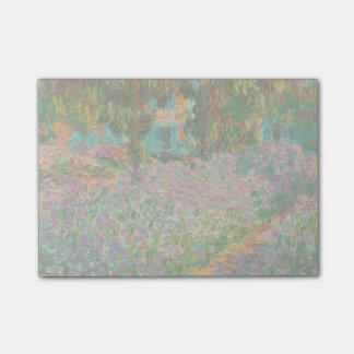 Irises In Monets Garden At Giverny by Claude Mone Post-it® Notes