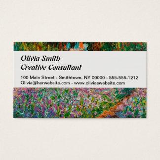 Irises In Monets Garden Business Card